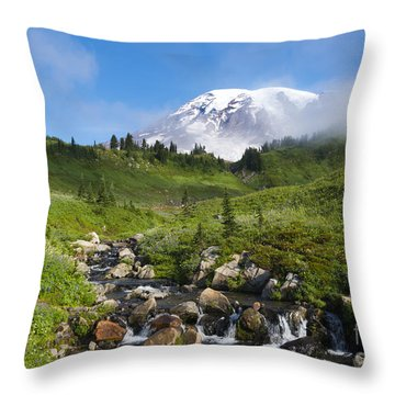 Behind The Fog Throw Pillow