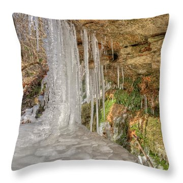 Throw Pillow featuring the photograph Behind The Ice by Wanda Krack