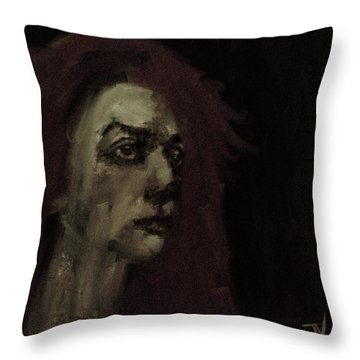 Throw Pillow featuring the digital art Behind The Scenes by Jim Vance