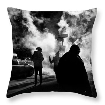 Behind The Smoke Throw Pillow