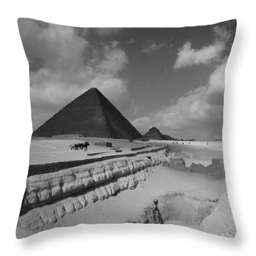 Behind The Sphynx Throw Pillow