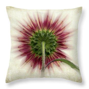 Behind The Sunflower Throw Pillow