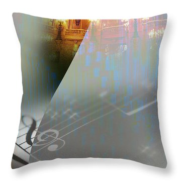 Behind The Vail Throw Pillow by Allison Ashton