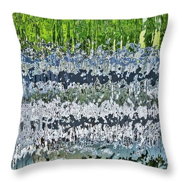 Behind The Waterfall Throw Pillow