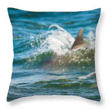 Behind The Wave Throw Pillow
