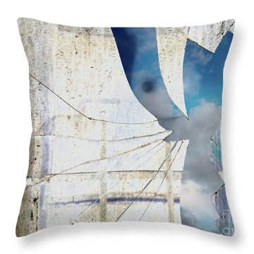 Behind The Window Throw Pillow by Michal Boubin