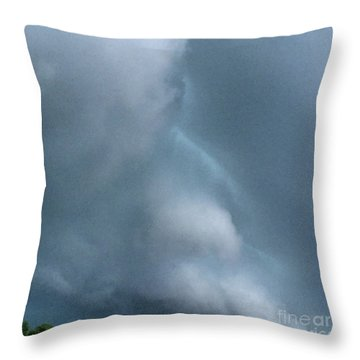 Behold He Cometh With Clouds Throw Pillow