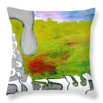 Behold The Hey Ab12 Throw Pillow