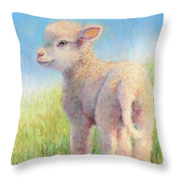 Behold The Lamb Throw Pillow