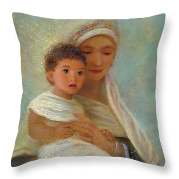 Throw Pillow featuring the painting Behold The Light by Nancy Lee Moran