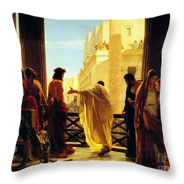 Behold The Man Throw Pillow