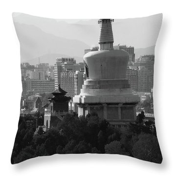 Beijing City 3 Throw Pillow by Xueling Zou