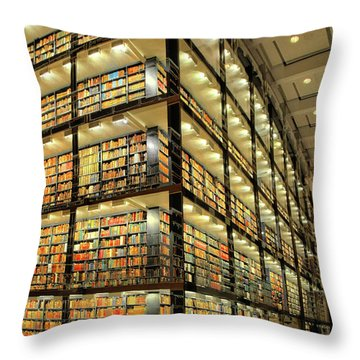 Beinecke Library At Yale University Throw Pillow