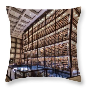 Beinecke Rare Book And Manuscript Library Throw Pillow