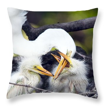 Being A Mom Is Tough Throw Pillow by Kenneth Albin