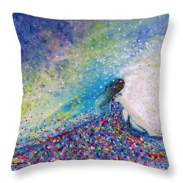 Being A Woman - #5 In A Daydream Throw Pillow by Kume Bryant