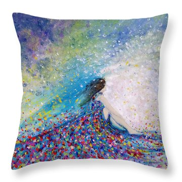 Being A Woman - #5 In A Daydream Throw Pillow