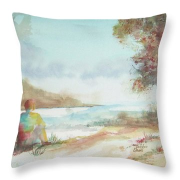 Being Here Throw Pillow