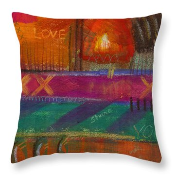 Throw Pillow featuring the painting Being In Love by Angela L Walker
