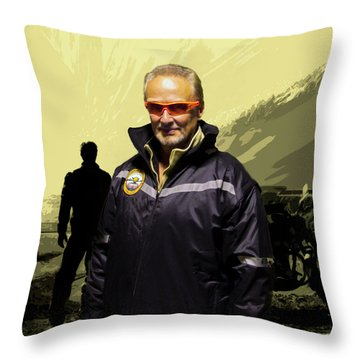 Throw Pillow featuring the photograph Being In The Movie IIi by Al Bourassa