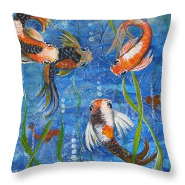 Being Koi Throw Pillow