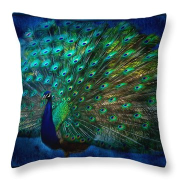 Being Yourself - Peacock Art Throw Pillow
