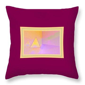 Beings Of Light Portal Throw Pillow