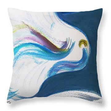 Beit Breathe And Meditate Throw Pillow