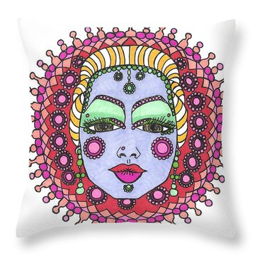 Bejeweled Blond Throw Pillow