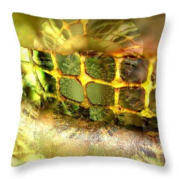 Bejewelled Throw Pillow by Shirley Sirois