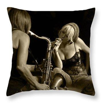 Bekka And Deanne Throw Pillow