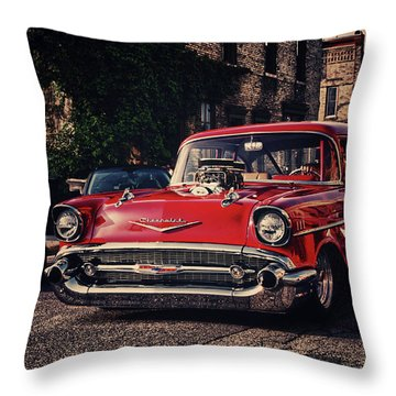 Throw Pillow featuring the photograph Bel Air Hotrod by Joel Witmeyer