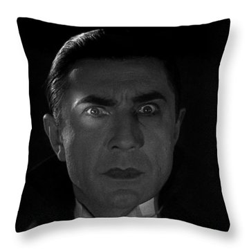 Bela Lugosi  Dracula 1931 And His Piercing Eyes Throw Pillow