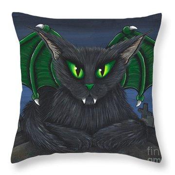 Bela Vampire Cat Throw Pillow