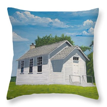 Belding School Throw Pillow