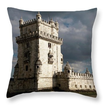 Throw Pillow featuring the photograph Belem Tower In Color by Lorraine Devon Wilke