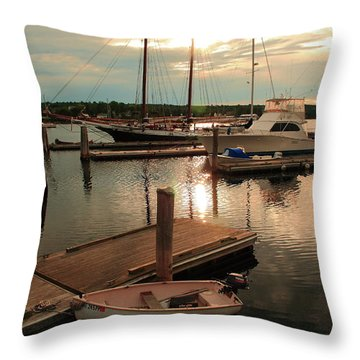 Belfast Harbor Throw Pillow