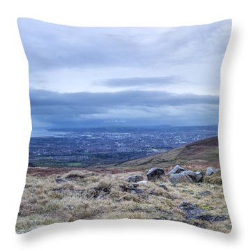 Belfast Lough From Divis Mountain Throw Pillow