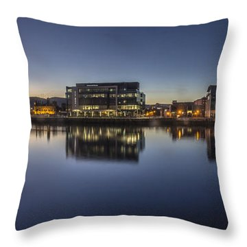 Belfast Near The Docks Throw Pillow