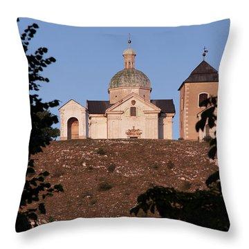 Throw Pillow featuring the photograph Belfry And Chapel Of Saint Sebastian by Michal Boubin