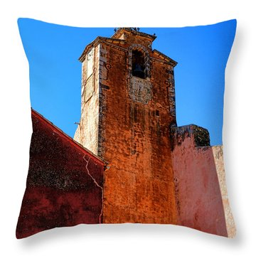 Throw Pillow featuring the photograph Belfry In Provence by Olivier Le Queinec