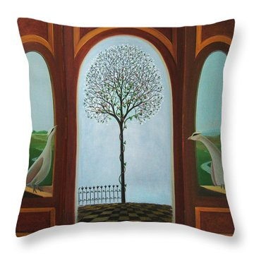Belgian Triptyck Throw Pillow