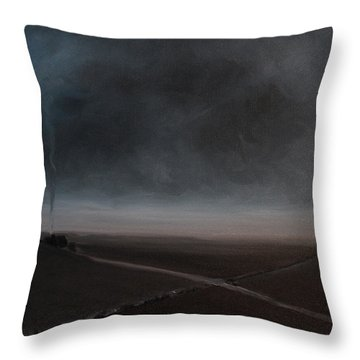 Throw Pillow featuring the painting Belgian Wintertime by Tone Aanderaa