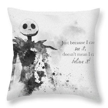 Believe Black And White Throw Pillow
