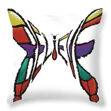 Believe-butterfly Throw Pillow