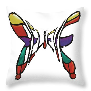 Believe-butterfly Throw Pillow