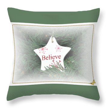 Throw Pillow featuring the photograph Believe Star by Ellen O'Reilly