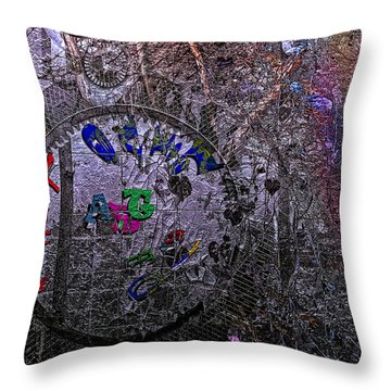 Believe In Art Throw Pillow