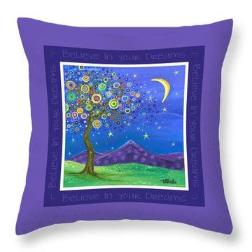 Believe In Your Dreams - Inspire Throw Pillow by Tanielle Childers