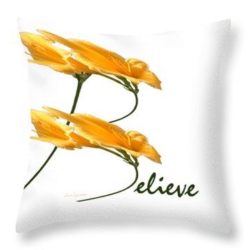 Believe Shirt Throw Pillow